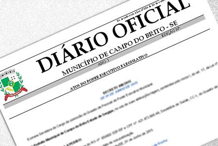 Prefeitura de Campo do Brito publica calendário de Feriados e Pontos Facultativos de 2016